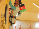 Progress Ascends; New Climbing Wall in Afghanistan Promotes Activity to Girls